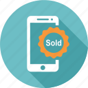 cloud, computing, online, sale, shopping, smartphone, sold icon