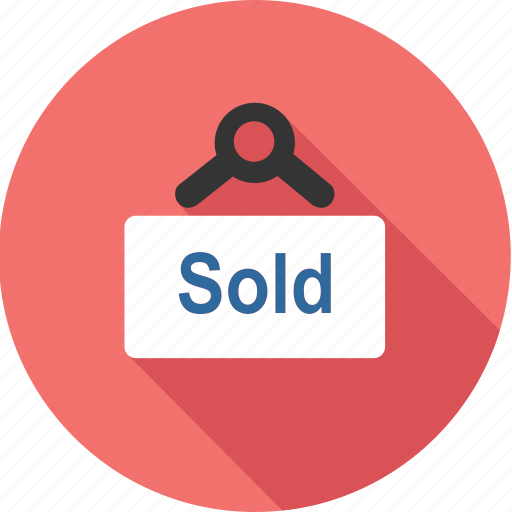 banner, board, business, market, shopping, sold, tag icon