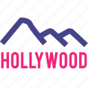 angeles, hills, hollywood, los, north icon