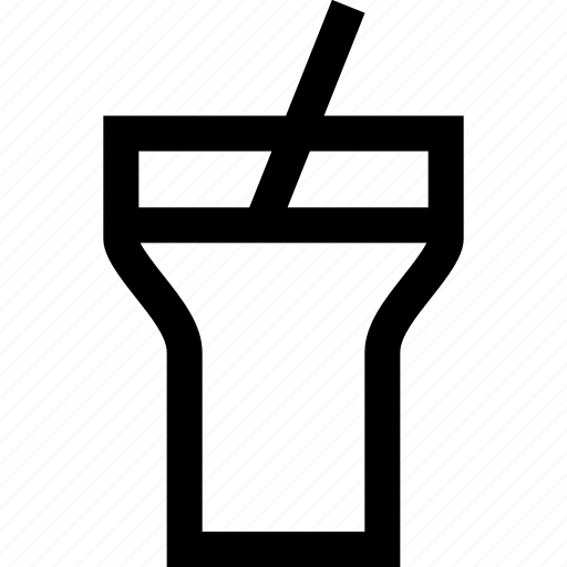 coca, cola, drink, outside, straw icon