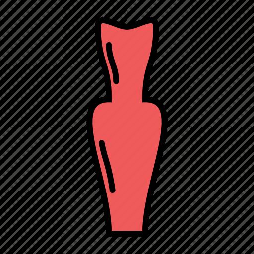 dress, halter, long, woman icon