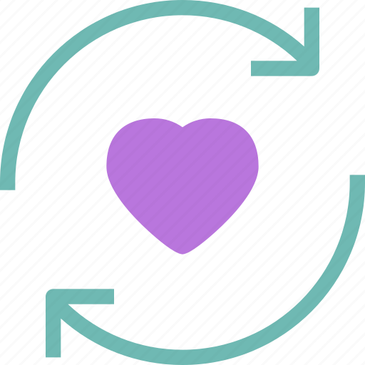 Cycle, heart, love, romance icon - Download on Iconfinder