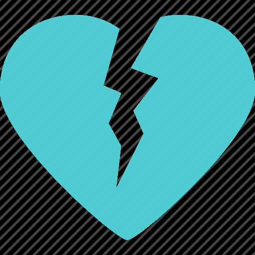 Break, heart, love, romance icon - Download on Iconfinder