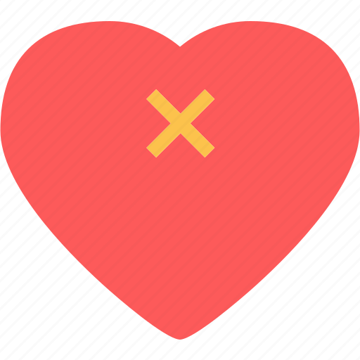 Cancel, heart, love, romance icon - Download on Iconfinder