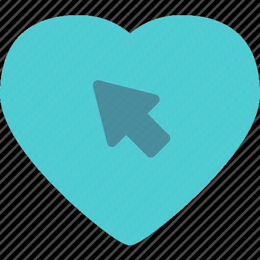 cursor, heart, love, romance icon