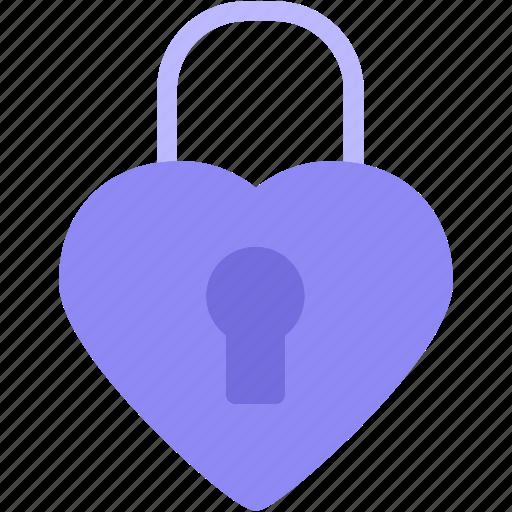 Heart, lock, love, romance icon - Download on Iconfinder
