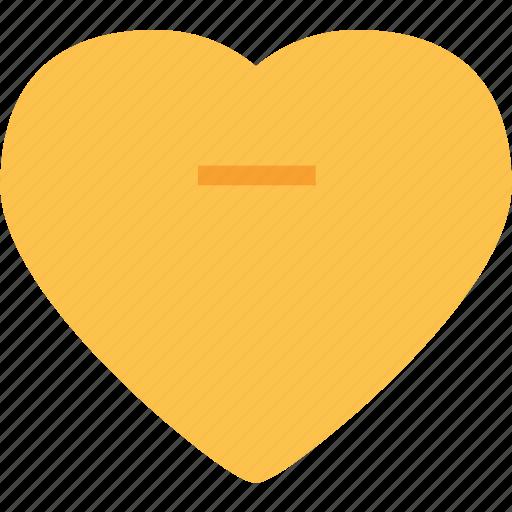 Heart, love, minus, romance icon - Download on Iconfinder