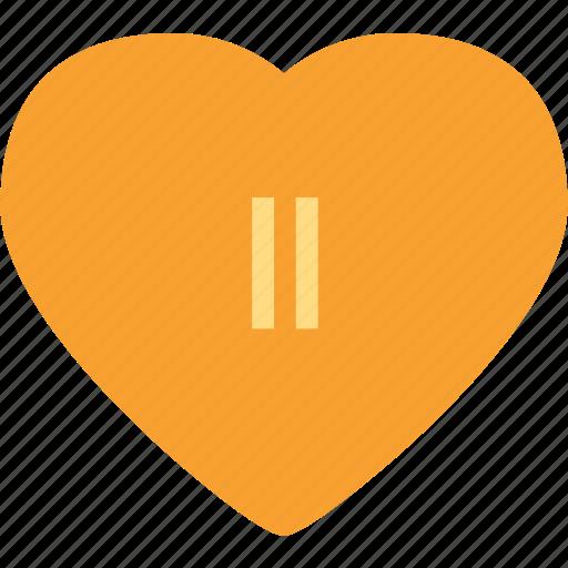 heart, love, pause, romance icon