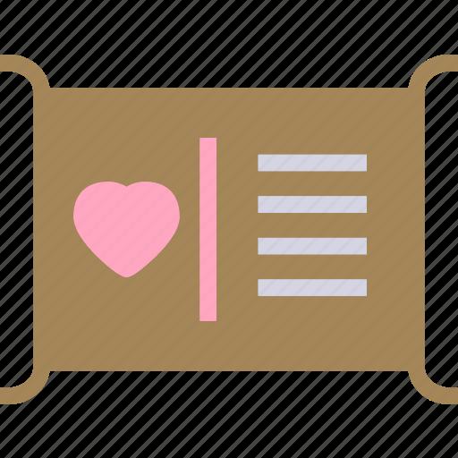 description, heart, love, romance icon