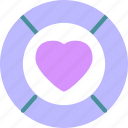 heart, love, romance icon