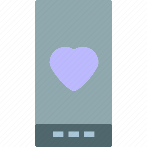 Heart, love, romance, smartphone icon - Download on Iconfinder