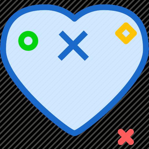 cancel, heart, love, romance icon
