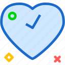checkok, heart, love, romance icon