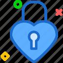 heart, lock, love, romance