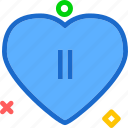heart, love, pause, romance icon