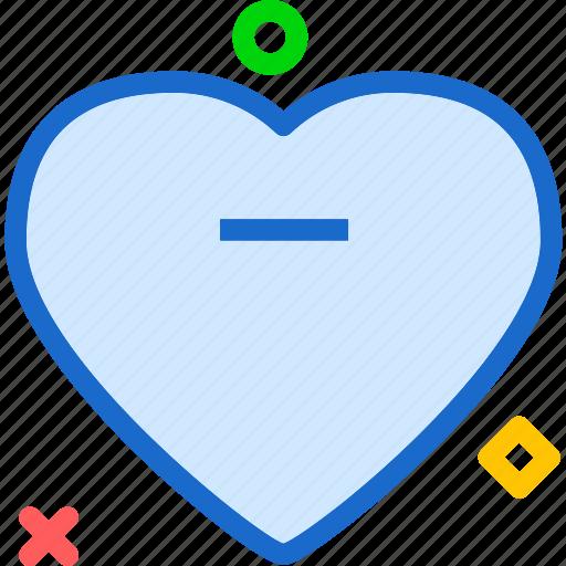 heart, love, minus, romance icon