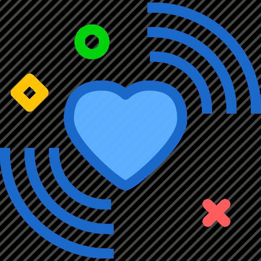 heart, love, romance, signal icon