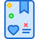 agenda, heart, love, romance icon
