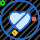 denied, heart, love, romance