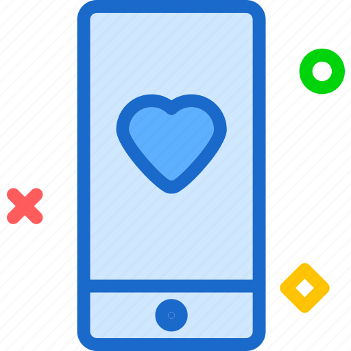Heart, love, phone, romance icon - Download on Iconfinder