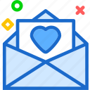 envelope, heart, love, romance icon