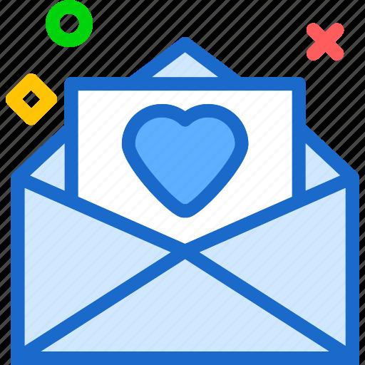 envelope, heart, love, romance icon