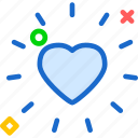 heart, love, romance, shine icon
