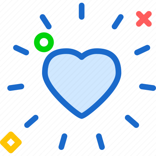Heart, love, romance, shine icon - Download on Iconfinder