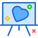 heart, love, presentation, romance icon