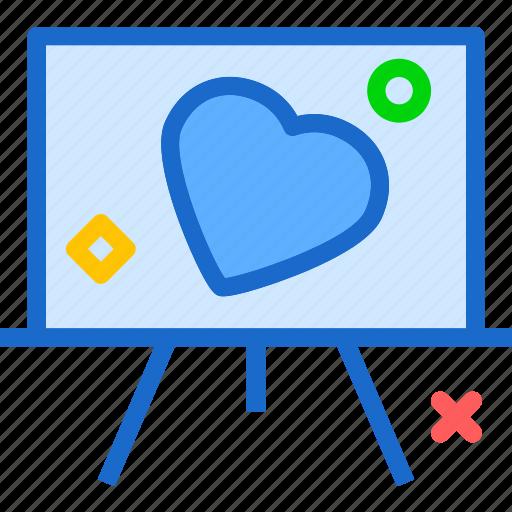 heart, love, presentation, romance icon