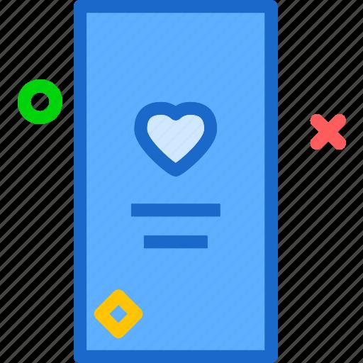 heart, love, profile, romance icon