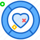 coin, heart, love, romance icon