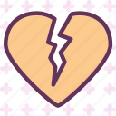 break, heart, love, romance icon