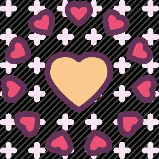 circle, heart, love, romance icon