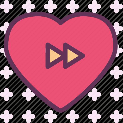 forward, heart, love, romance icon