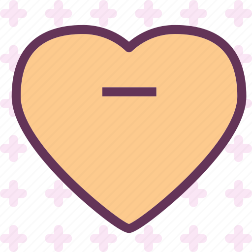 heart, love, minus, romance icon