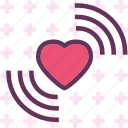 heart, love, romance, signal icon