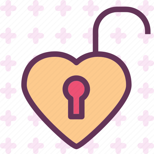 heart, love, romance, unlock icon