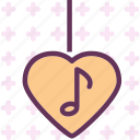 heart, love, musicnote, romance icon