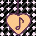 heart, love, musicnote, romance