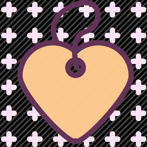 heart, love, pendant, romance icon
