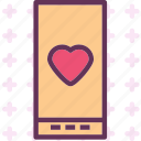heart, love, romance, smartphone icon