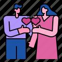 women, valentine, love, heart, man, exchange, couple