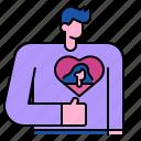 romantic, body, sweetheart, valentine, love, heart, man