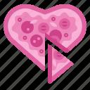 romantic, heart, valentine, italian, food, pizza, love
