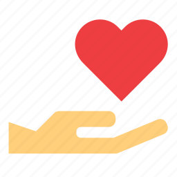 hand, heart, holding, love, romance, valentine's day, valentines icon
