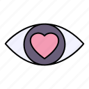 eye, love, vision, heart