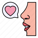 love, speech, bubble, heart, chat, conversation