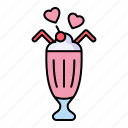 milkshake, dessert, ice, cream, sweet