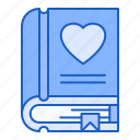 book, love, story, romantic, novel icon
